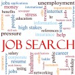 Job Search Word Cloud Concept - Foto de Stock