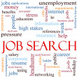 Job Search Word Cloud Concept — Stock Photo #11929838