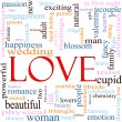 Love Word Cloud Concept - Stock fotografie
