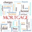 Mortgage word concept illustration — Stock Photo