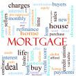 Mortgage word concept illustration - Stock Photo