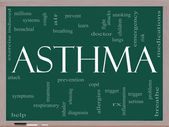 Asthma Word Cloud on Blackboard — Stock Photo