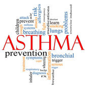Asthma word cloud concept — Stock Photo
