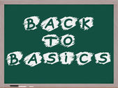 Back to Basics Chalkboard — Stock Photo