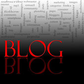 Blog Word Cloud Red and Black — Stock Photo