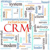 CRM word concept illustration — Stock fotografie