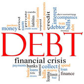 Debt Word Cloud Concept — Stock Photo