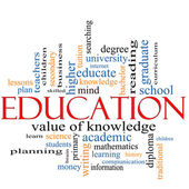 Education Word Cloud Concept — Stock Photo