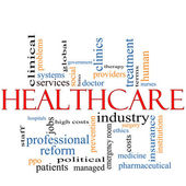 Healthcare word cloud concept — Stock Photo