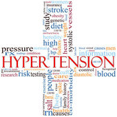 Hypertension cross word cloud — Stock Photo