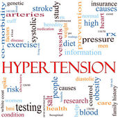 Hypertension Word Cloud Concept — Stock Photo