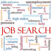 Job Search Word Cloud Concept — Stock Photo