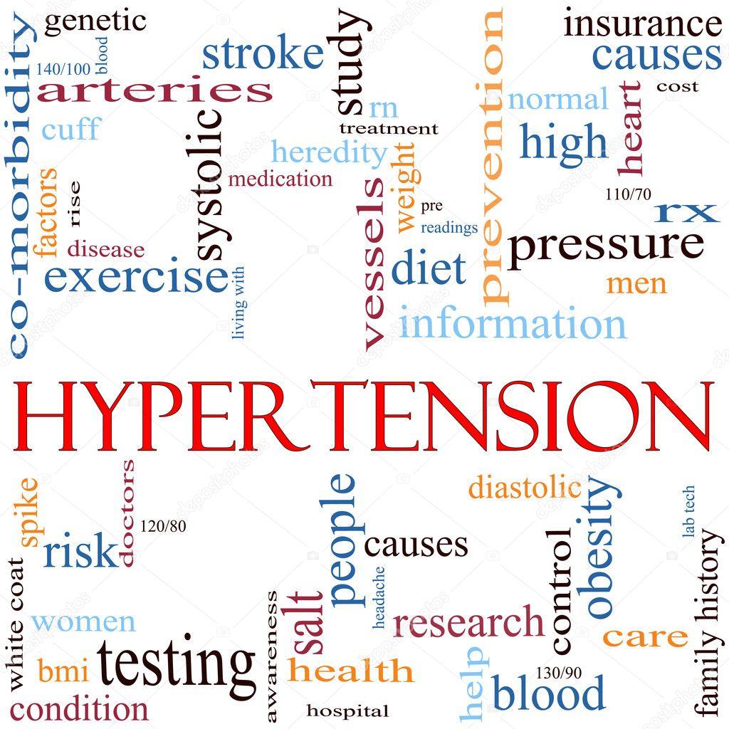 Hypertension Word Cloud Concept — Stock Photo © mybaitshop ...