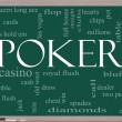 Stock Photo: Poker Word Cloud Concept on a chalkboard