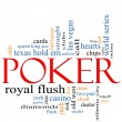 Poker Word Cloud Concept — Stock Photo