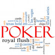 Stock Photo: Poker Word Cloud Concept
