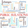Public Relations Word Cloud — Stock Photo