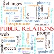 Stok fotoğraf: Public Relations Word Cloud