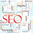 SEO Word Cloud Concept — Stock Photo