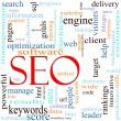 SEO Word Cloud Concept - Stock Photo
