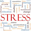 Stock Photo: Stress Word Cloud Concept