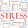 Stress Word Cloud Concept — Stock Photo #11930240