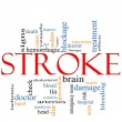 Stock Photo: Stroke word cloud concept