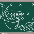 Sweep Football Play on Chalkboard — Stock Photo