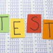 Scantron Test with Colorful Letters — Stock Photo #11930326