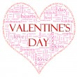 Valentine's Day Heart Shaped word cloud — Foto Stock