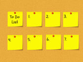 To Do List on Bulletin Board — Stock Photo
