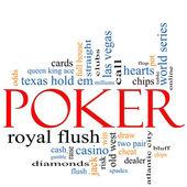 Poker slovo mrak koncepce — Stock fotografie