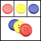 Collage of Colorful Round Buttons — Stock Photo