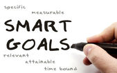 Smart Goals hand written — Stock Photo