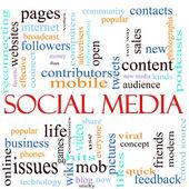 Social Media word concept illustration — Stock Photo