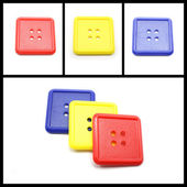 Collage of Colorful Square Buttons — Stock Photo