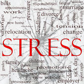 Stress Shattered Glass Word Cloud Concept — Stock Photo