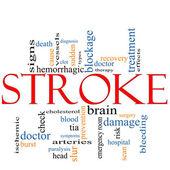 Stroke word cloud concept — Stock Photo