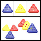 Collage of Colorful Triangle Buttons — Stock Photo