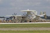 AWAC starting to lift off runway — Stock Photo