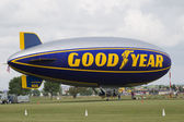 Goodyear Blimp readying for flight — Stock Photo