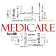 Medicare Word Cloud Concept — Stock Photo