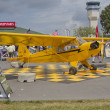Stock Photo: Piper Yellow Cub Airplane