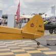 Stock Photo: Piper Yellow Cub Airplane Tail Close up