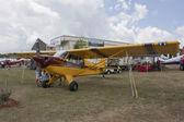 Maroon & Yellow Aviat Aircraft Husky A-1C — Stock Photo