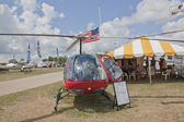 Enstrom F28F Red Helicopter Front View — Stock Photo