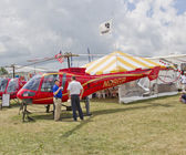 Enstrom 480B Red Helicopter — Stock Photo