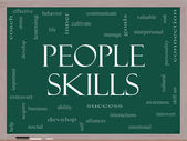 Skills Word Cloud Concept on a Blackboard — Stock Photo