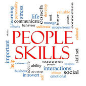Skills Word Cloud Concept — Stock Photo