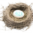 Stock Photo: Bird's Nest with 401K Egg